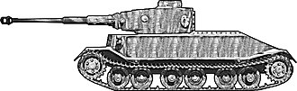 Tiger I - Model reconstruction of VK 4501 (P) Porsche prototype