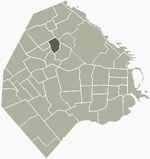 Location of Villa Ortúzar within Buenos Aires