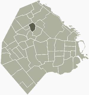 Villa Ortúzar - Image: V Ortuzar Buenos Aires map