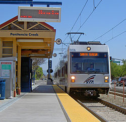 High Quality VTA Light Rail San Jose Penitencia Creek Station Great Pictures