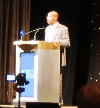 Netroots Nation - Van Jones speaking at the 2010 convention