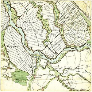 Altengamme - Altengamme about 1790 (Historical map of Gustav Adolf von Varendorf)