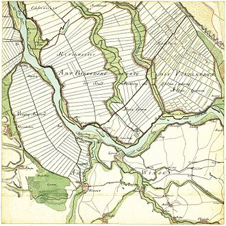 Curslack - The area of Curslack in 1790