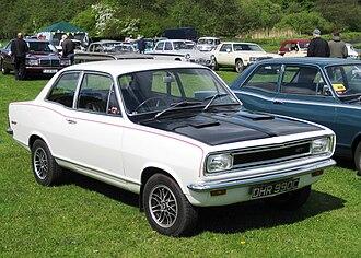 Vauxhall Viva - The black bonnet / hood was a distinguishing feature of the HB Viva GT