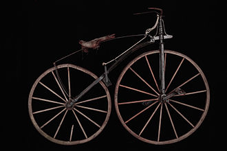 Pierre Michaux - The Michaux velocipede had a straight fork and a spoon brake.
