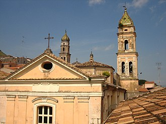 Venafro - Facade and bell tower of Church of Christ