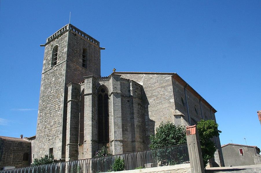 Vendres (Hérault) - église Saint-Étienne (XIVe siècle).