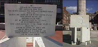 Rhode Island - Verrazzano Monument, Providence, Rhode Island.