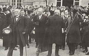 Little Treaty of Versailles - The Heads of government at the formal signing of the Treaty of Versailles in 1919