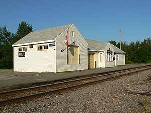 The Via Rail flagstop station in Jacquet River...