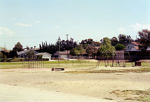 Corona-Norco Unified School District - Vicentia Elementary School's playground, pictured in 2002.