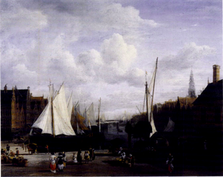 <i>View of the Dam and Damrak at Amsterdam</i> (Frick Collection) painting by Jacob van Ruisdael