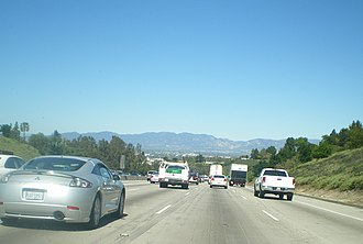 Sepulveda Pass - Image: View of the Valley from The 405