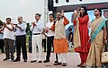 Vijay Goel addressing after inaugurating the Exhibition on Olympic Games and Live Screening of Rio Games, in New Delhi.jpg