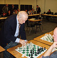 Viktor Korchnoi simultaneous display at London Chess Classic.jpg