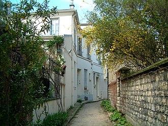 Petit-Montrouge - The Hallé villa, residential cul-de-sac typical of the quartier
