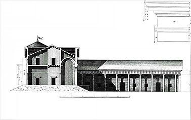 Villa Saraceno sezione Bertotti Scamozzi 1778.jpg