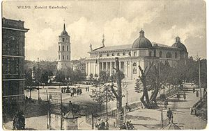 Cathedral Square, Vilnius - Pre-war view of the square