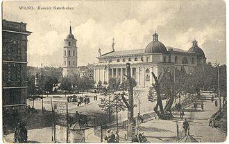 Cathedral Square, Vilnius - Pre-war view of the square
