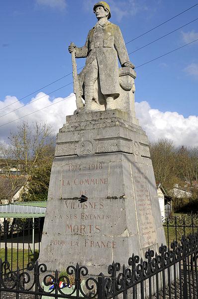 WWI memorial in Vilosnes-Haraumont