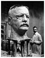 Vincenzo Miserendino working on one of his many Teddy Roosevelt portraits in his studio on the Bowery.jpeg