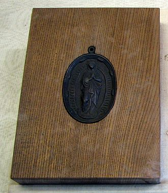 Fumi-e - Picture of the Virgin Mary used to reveal practicing Catholics and sympathizers
