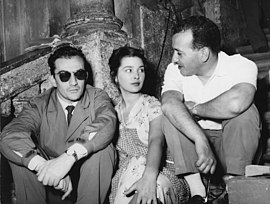 Luchino Visconti, Irene Galter and Antonio Pietrangeli (1953) Visconti-Galter-Pietrangeli.jpg