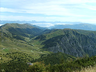 First Battle of Monte Grappa - View from the summit towards the Austrian positions