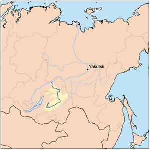 Vitim River - Map