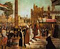 Vittore carpaccio, Martyrdom of the Pilgrims and the Funeral of St Ursula 02.jpg