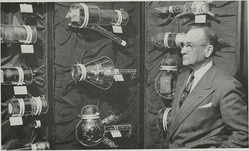 Vladimir Zworykin and historic TV tubes.jpg