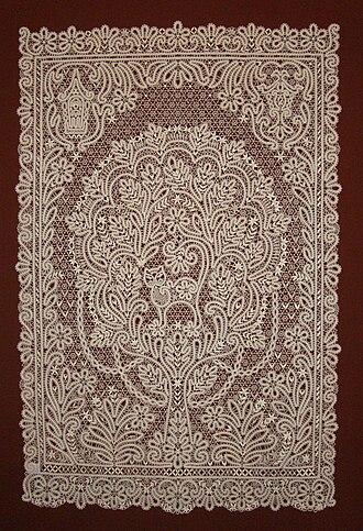Russian lace - Image: Vologodskoe Krujevo Lukomore