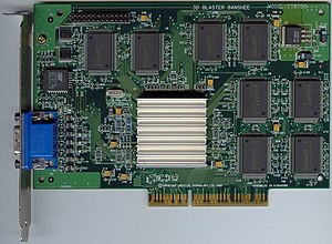 A 3dfx Voodoo Banshee AGP video card. Scanned ...