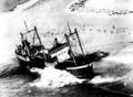 Vor Tasmanien havarierter Frachter Merino, 29. Dezember 1952.PNG