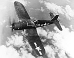 Vought F4U-1A Corsair of VF-17 in flight, circa in March 1944 (80-G-217819).jpg
