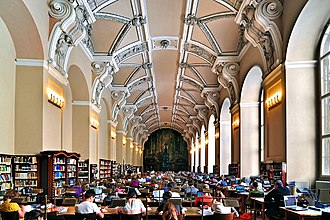 National Library of the Czech Republic - General reading room (former refectory of the Jesuit residence in Clementinum)