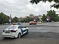 Vue de la Place de France et voiture de police (Erevan).JPG