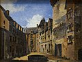 Vue de la cour du château de Pau, 1845, Pierre Justin Ouvrié, musée national du château de Pau.jpg