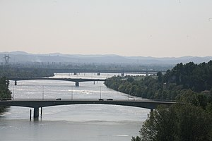 Avignon - Bridges on the Grand Rhône.