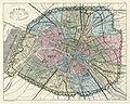 Vuillemin and Migeon, Paris et son mur d'enceinte, 1869 - David Rumsey.jpg
