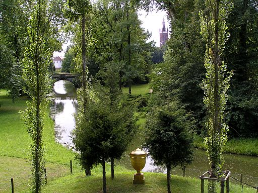 Wörlitzer Gartenreich 2 322 Sichtenfächer goldene Urne