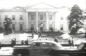 American Peace Mobilization - A protest of the American Peace Mobilization held at the White House in 1941.