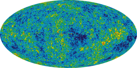 5-year WMAP image of background cosmic radiation (2008). WMAP 2008.png