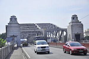 Puente Colgante (Manila) - The Quezon Bridge replaced the Puente Colgante