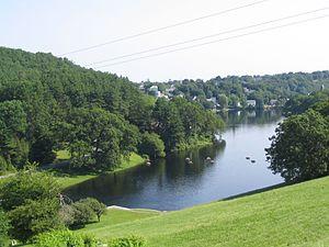 Wachusett Dam - Image: Wachusett dam outlet
