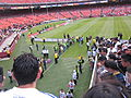 Waiting for teams to come out at Club América & Real Madrid friendly match 2010-08-04 2.JPG