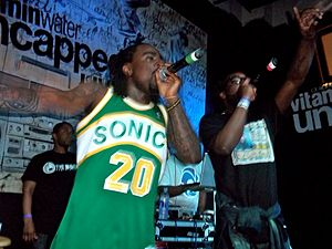 Wale (rapper) - Wale performs with Black Cobain in his hometown of Washington, DC in 2011