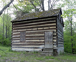North Fayette Township, Allegheny County, Pennsylvania - Walker-Ewing-Glass Log House in Settler's Cabin Park