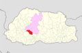Wangdue Phodrang Daga Gewog Bhutan location map.png