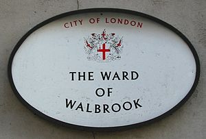 Walbrook - Ward of Walbrook sign.